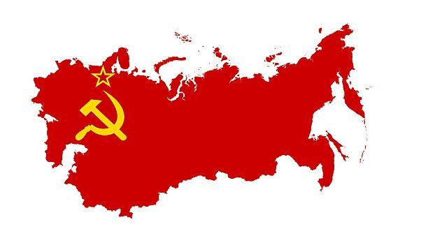 Flag-map of Soviet Union