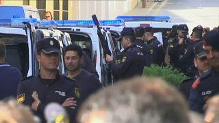 Von Madrid entsandte Sicherheitskräfte