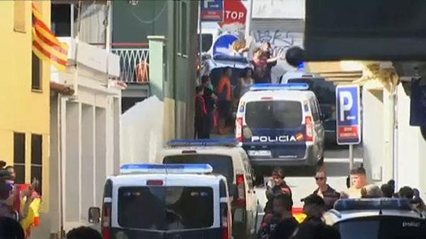 Retirada policial na Catalunha