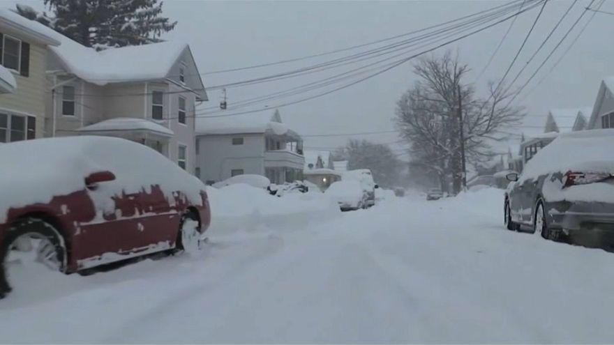 USA: Kleinstadt wird durch Schneesturm lahmgelegt