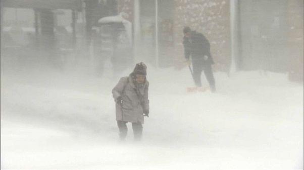 Schneestürme über Japan