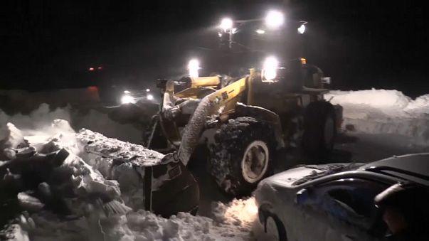 La neve tiene sotto scacco l'Estremo Oriente russo