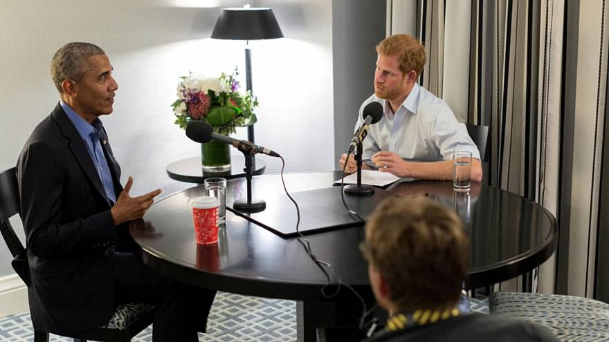 Barack Obama interviewé par le prince Harry