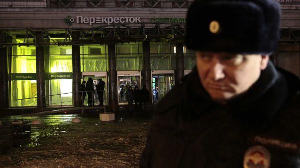 Sprengsatz in St. Petersburger Supermarkt