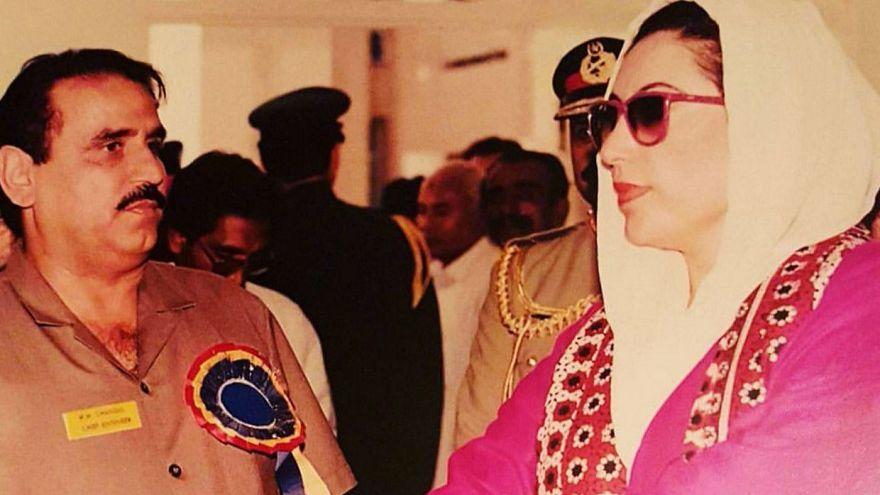 Chandio with Benazir Bhutto