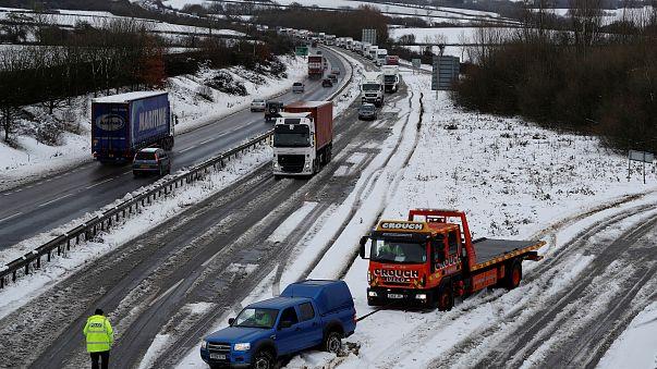 Le Royaume-Uni sous la neige
