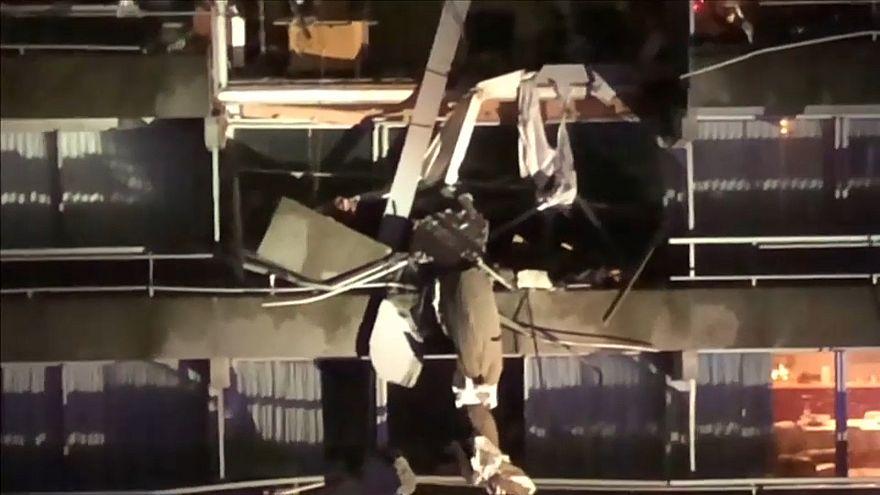 Une grue s'effondre sur un immeuble en Belgique