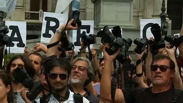 Protesto pela liberdade de imprensa na Argentina