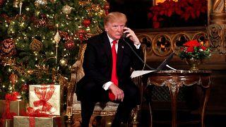 Trump participates in NORAD Santa Tracker phone calls with children in FL