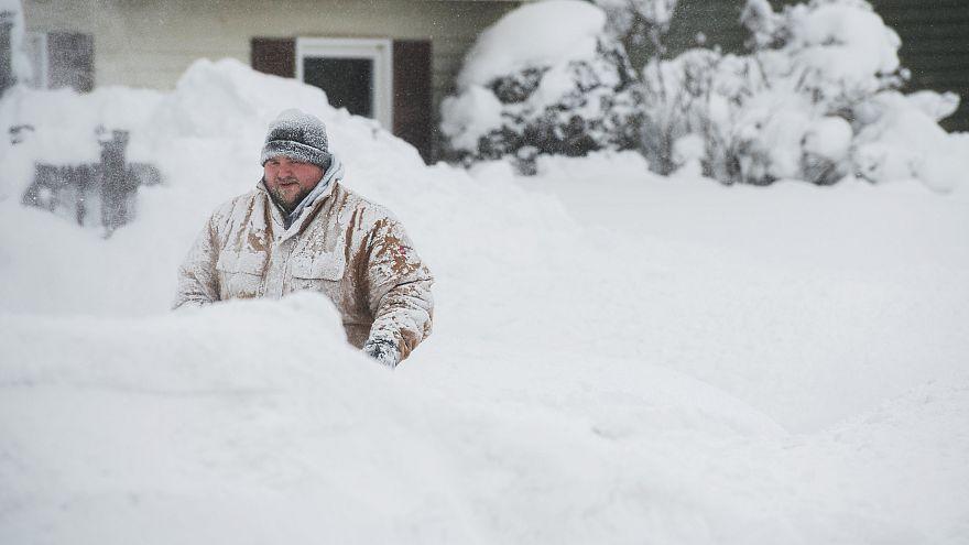 Rekordhavazás és fagyos hideg az Egyesült Államokban