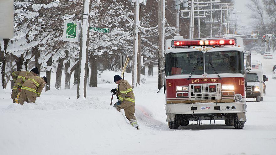 Nevão em Erie bate recorde na Pensilvânia