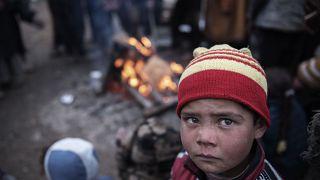Ένα παιδί σε καταυλισμό του Ιράκ