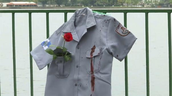 Tributes paid to killed police officers in Brazil