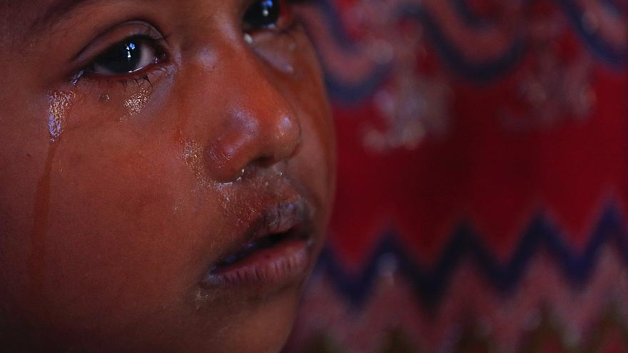 Enfant Rohingya au camp de Balukhali au Bangladesh, déc.2017