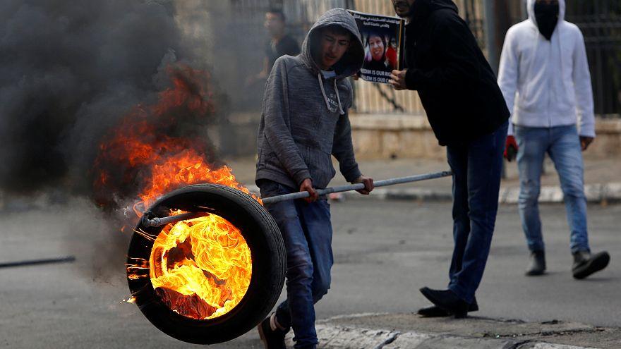 Palästinensische Proteste in Bethlehem
