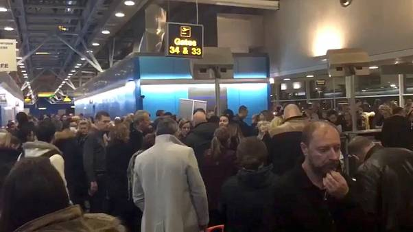 'Adverse weather' strands hundreds at London Stansted