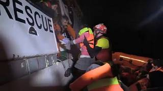 NGO Proactiva Open Arms rescue young migrant in the Mediterranean