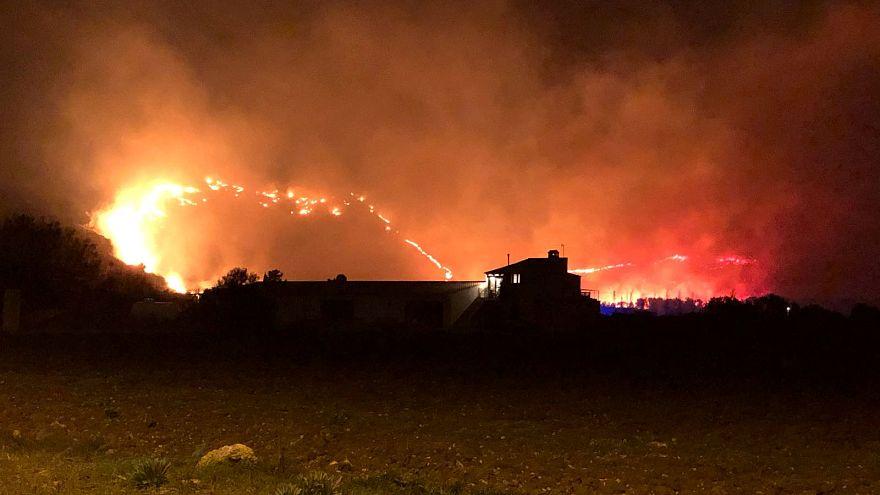 Лесные пожары на Мальорке