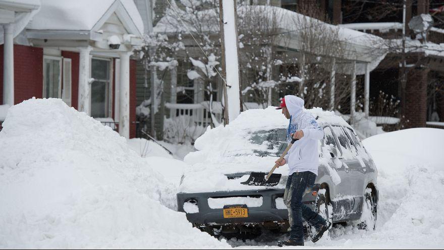 Fogcsikorgató hideg Észak-Amerikában