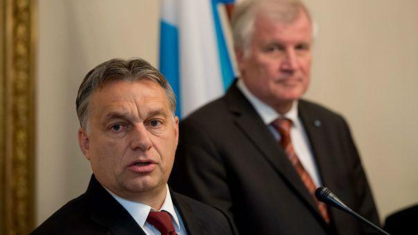 OrbánViktor és Horst Seehofer bajor kormányfő 2014. 11. 6.-án Münchenben