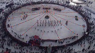 Çin'de Balıkçılık Festivali: En büyük balık rekor fiyata satıldı