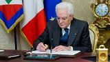 İtalya Cumhurbaşkanı meclisi feshetti 4 Mart'ta erken seçim yapılacak