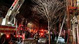 آتش سوزی در ساختمانی مسکونی در نیویورک