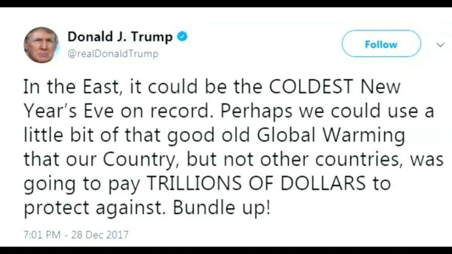 """Trump ironiza sobre el calentamiento global, que """"serviría para combatir la ola de frío"""""""