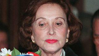 Carmen Franco, daughter of Spain's late dictator General Franco, stands loo