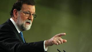 Spain's Prime Minister Mariano Rajoy attends a press conference