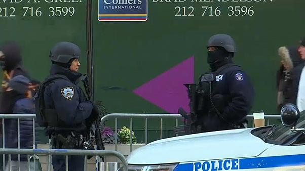 Armed officers will be on patrol with the crowds in Times Square
