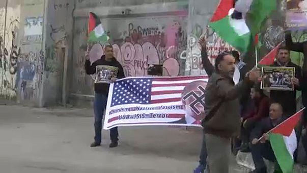Megint tüntettek Jeruzsálem miatt