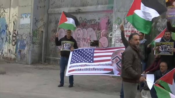 Cuarto día de protestas contra Trump en Gaza y Cisjordania