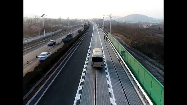 China eröffnet Solarstraße