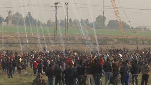 Dezenas de feridos na Faixa de Gaza