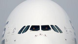 A Singapore Airlines A380 típusú repülőgépe