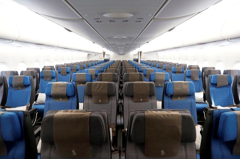 Egy A380-as turistaosztálya