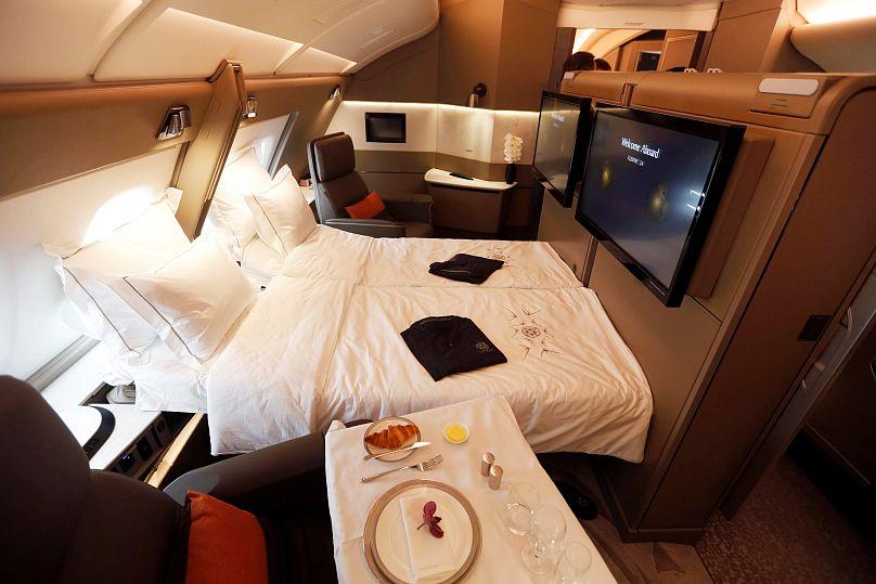 A Singapore Airlines A380-ának első osztályú kabinja
