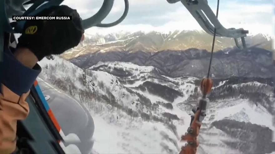 Snowboarders sãos e salvos