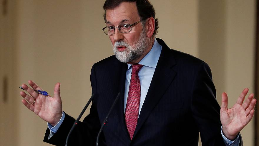 Spain's Prime Minister Mariano Rajoy at the Moncloa Palace, Madrid
