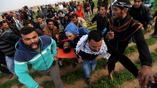 Clima de tensión en la Franja de Gaza entre palestinos y soldados israelíes