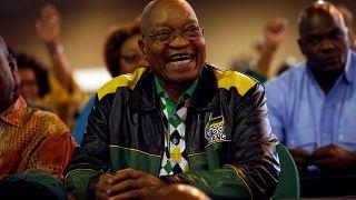 Jacob Zuma az Afrikai Nemzeti Kongresszus gyűlésén