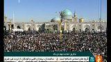 Centenares de iraníes se manifiestan a favor del régimen