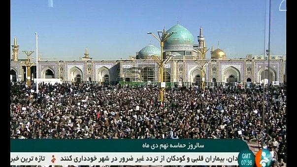 Manifestazioni pro e antigovernative in Iran