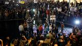 """متظاهرون ضد """"الفساد الحكومي"""" في تل أبيب بإسرائيل"""