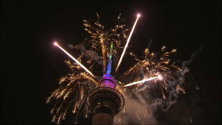 Celebraciones en Nueva Zelanda para recibir el 2018