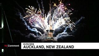 Yeni Zelanda 2018'e 'merhaba' dedi