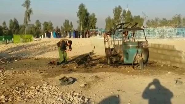 The scene of the blast in the eastern city of Jalalabad
