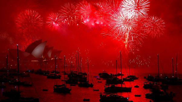 Australia: spettacolo fuochi d'artificio