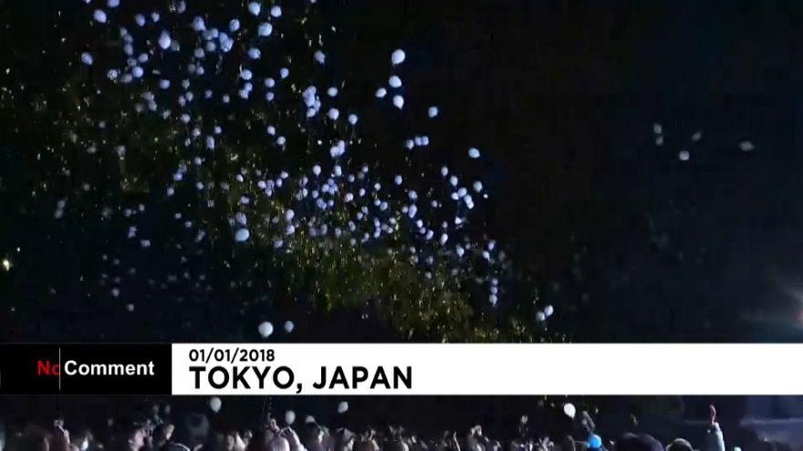 Japão dá as boas-vindas a 2018